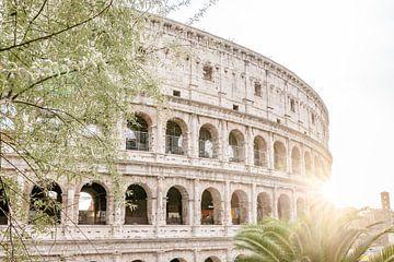 Coucher de soleil au Colisée Italie