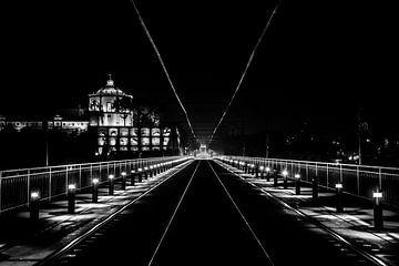 Photographie de nuit du pont Dom Luis à Porto, Portugal sur Ellis Peeters