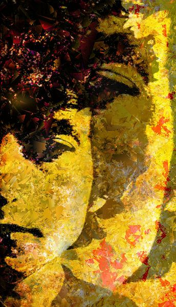 Abstrakt Bob Dylan von Brian Raggatt