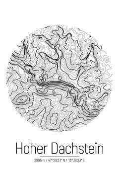 Hoher Dachstein | Topographie de la carte (minime) sur City Maps