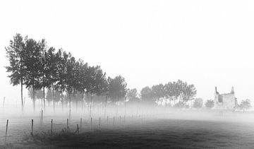 Ruins in mist von Johan Lambrix