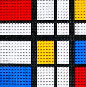 Lego Mondriaan kunstwerk van
