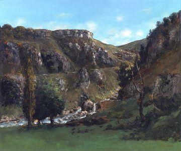 Vallei van Laloue bij Mouthiers-Haute-Pierre, Gustave Courbet, 1865-1868 van Atelier Liesjes