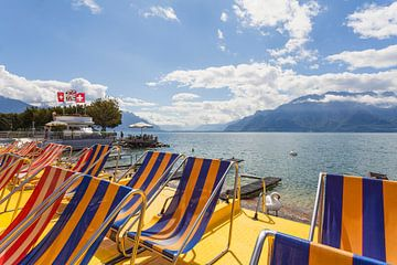 Vevey am Genfer See von Werner Dieterich