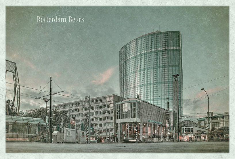 Carte postale d'époque: La Bourse à Rotterdam sur Frans Blok