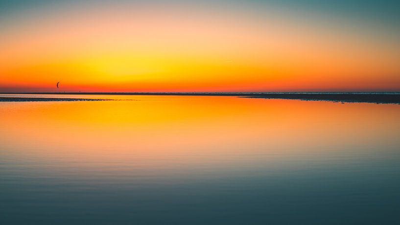 Breezand zonsondergang 4 van Andy Troy