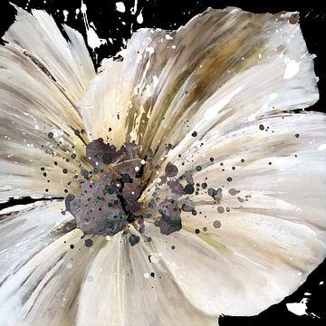 wit bloemig van Andreas Wemmje
