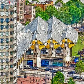 Verschildering Blaakse Bos, Rotterdam van Frans Blok