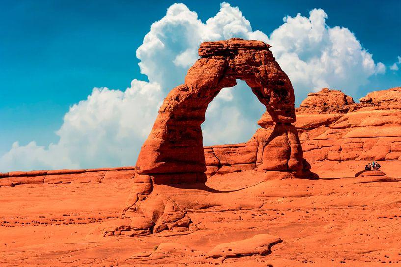 Arches National Park, Utah USA. Arche délicate sur Gert Hilbink