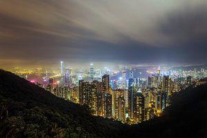 Hong Kong Peak Panorama van Roy Poots