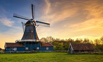 Sonnenuntergang Bolwerksmolen Deventer, Niederlande von Adelheid Smitt