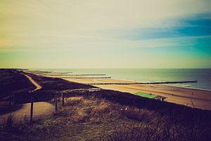 Overzicht over de stranden bij Domburg