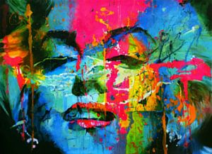 Marilyn Monroe Blue Splash Pop Art Part 2