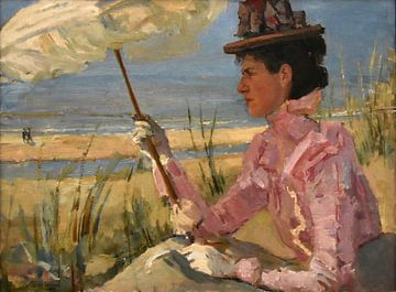 Portrait von Frau D. Calisch-Hijmans, Isaac Israëls von