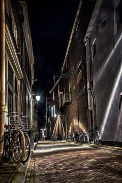 Deventer bij nacht van Hans Soowijl