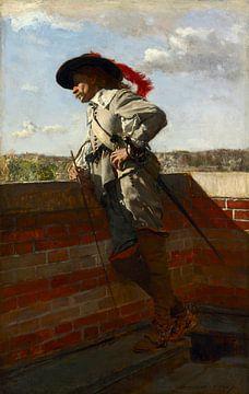 Auf einer Terrasse, Ernest Meissonier