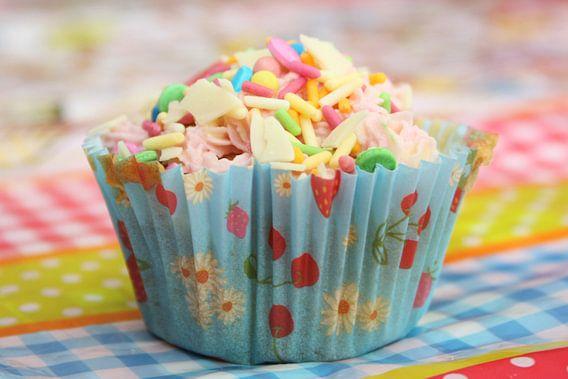 Cupcake met sprinkels