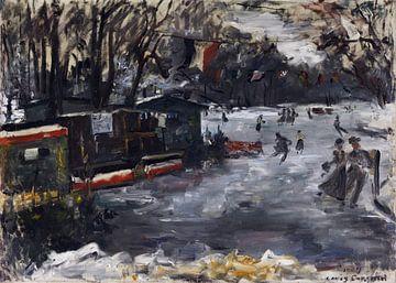 Eisbahn im Berliner Tiergarten, Lovis Corinth, 1909 von Atelier Liesjes
