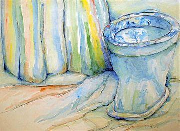 De blauwe toiletpot. van Ineke de Rijk