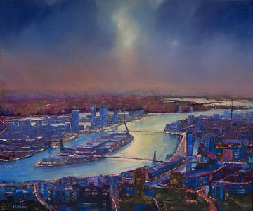 De bruggen van Rotterdam sur Bert Oosthout