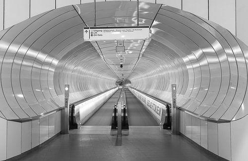 Het metrostation Wilhelminaplein in Rotterdam