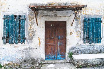 Deur en ramen op Korfoe von