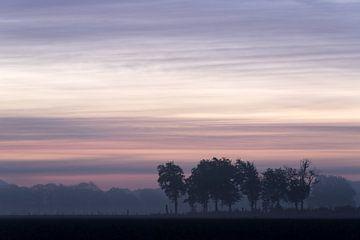 Zonsopkomst in Brabant van René Groenendijk