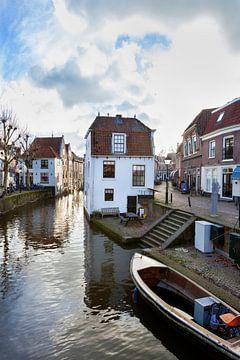 Wasser Lange Linschoten im Zentrum von Oudewater von Peter de Kievith Fotografie