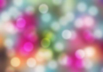 Fantasie kleurenpalet abstract romantische achtergrond met bokeh art van Mike Maes