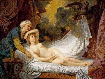 Jean-Baptiste Greuze, Ägina besucht von Jupiter - ca. 1767-69 von Atelier Liesjes