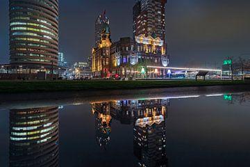 Wilhelmipier Rotterdam reflectie von Midi010 Fotografie