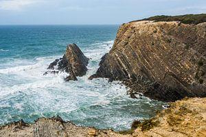 blue wild ocean at protugal coast
