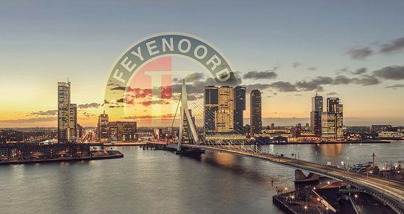 Skyline Feyenoord Rotterdam van Rob van der Teen
