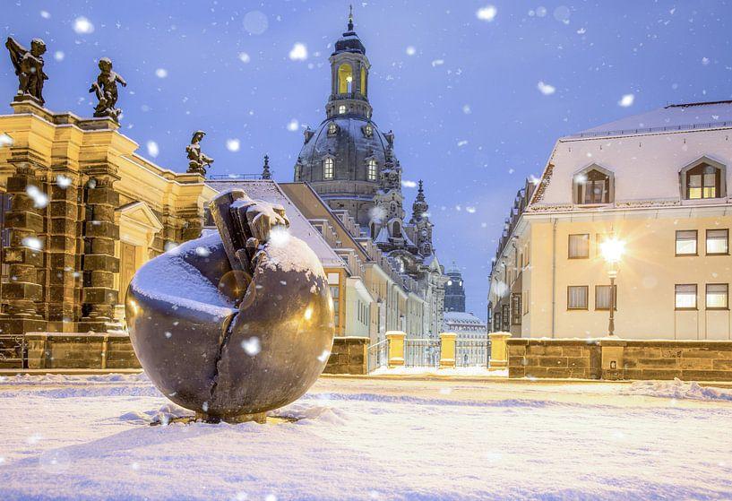 Dresde en hiver sur Sergej Nickel