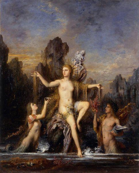 Venus aus dem Meer steigen, Gustave Moreau von Meesterlijcke Meesters