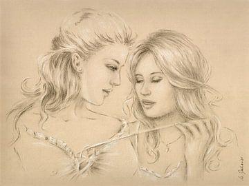 Hot spelletjes - erotische tekening van Marita Zacharias