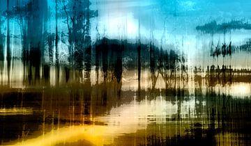 Abstracte landschap van Nannie van der Wal