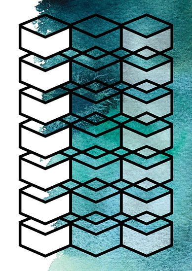 The transparency of water | Geometrie en Aquarel