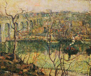 Ernest Lawson - Hohe Brücke. Frühmond.