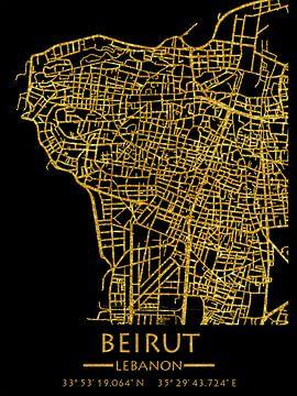 Libanon-wegenkaart van Beiroet van Carina Buchspies