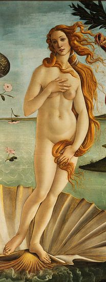 Sandro Botticelli - Geboorte van Venus, detail