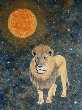 kosmische leeuw van Ingrid van El