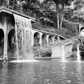 waterfall in tripcal garden Monte Madeira van CW fotografie