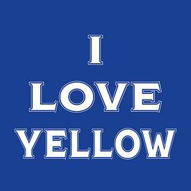 I love yellow (in Blue) van Stefan Couronne