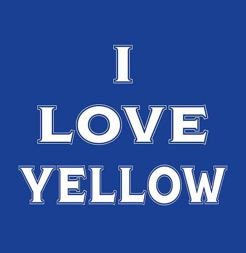 I love yellow (in Blue) van