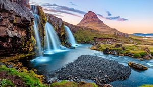 Iceland, Kirkjufell waterfall