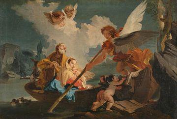 Die Flucht nach Ägypten, Giovanni Battista Tiepolo