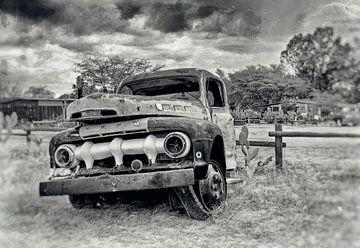 Autowrack in Namibia 5 von Jan van Reij