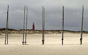 Zicht op de Vuurtoren van Texel. View at the Texel Lighthouse