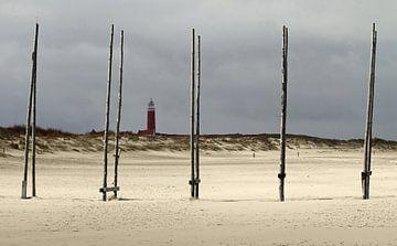 Zicht op de Vuurtoren van Texel. View at the Texel Lighthouse van
